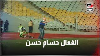 رغم إجرائه عملية جراحية في الرقبة.. حسام حسن ينفعل على لاعبي سموحة أثناء مباراة الأهلي