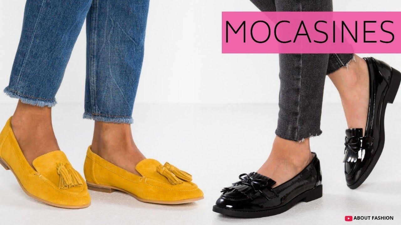 MODA en MOCASINES de Mujer | Tendencias Zapatos Otoño Invierno 2019 2020 Para Outfits Elegantes