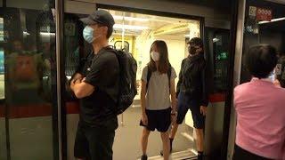 Hong Kong protesters disrupt train services