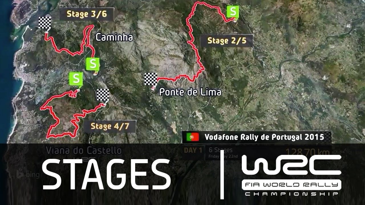 WRC Vodafone Rally De Portugal The Stages YouTube - Wrc portugal 2016 map