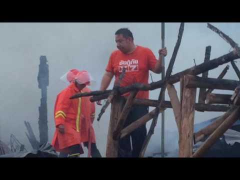เพลิงไหม้ร้านยางรถยนต์ ที่อำเภอท่าบ่อ จังหวัดหนองคาย เสียหายนับล้านบาท