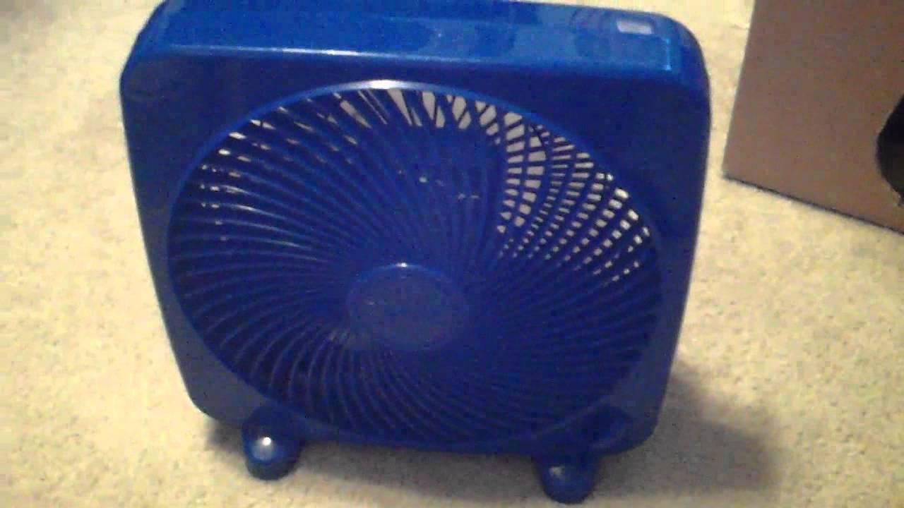 Massey Box Fan : Inch massey personal box fan youtube