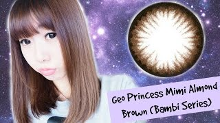 Lens Flavors Review | Geo Princess Mimi Almond Brown (Bambi Series)