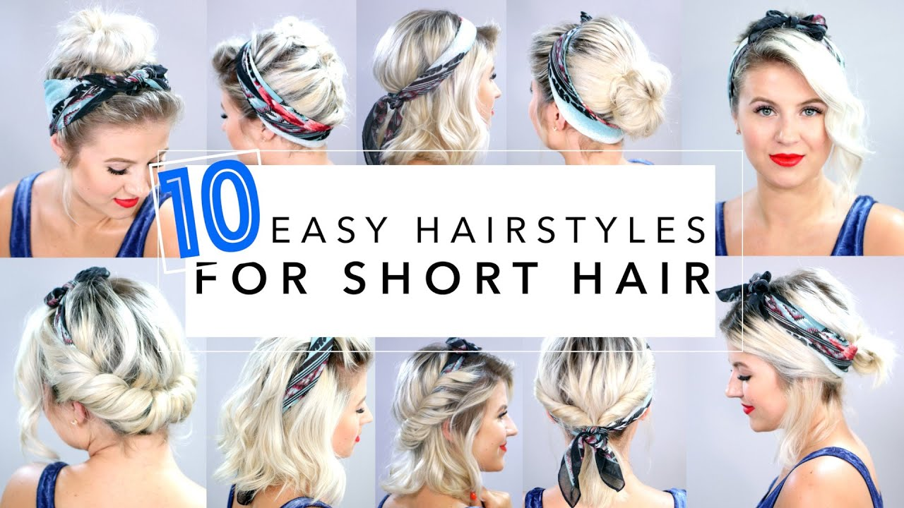 10 Easy Hairstyles for Short Hair With Headband Milabu - YouTube