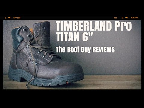"TIMBERLAND PRO TITAN 6""WORK BOOTS STYLE 26078/53536 [ The Boot Guy Review ]"