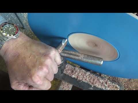 Woodturning at 54a.#139 Water droplets illusion bowl