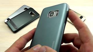 ОБЗОР: Шикарный Комбинированный Чехол для Samsung Galaxy S7 SM-G930F Motomo (силикон + металл)