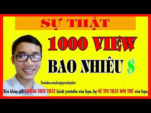 1000 View Trên Youtube Được Bao Nhiêu Tiền?