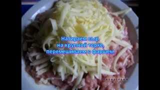 Видео рецепты - куриные котлеты с сыром