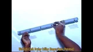 Wel Tech Cloth Drying Ceiling   Installation Demo