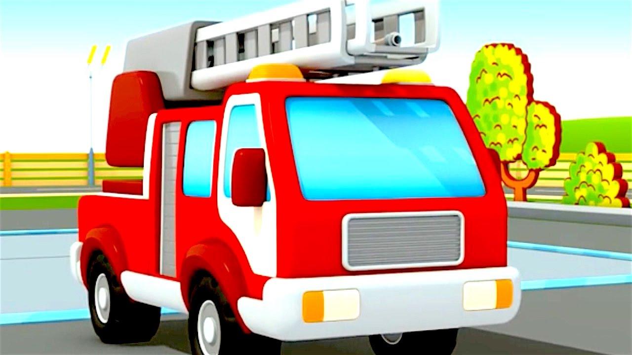 Camiones de bomberos - La Escuela de Autos - YouTube