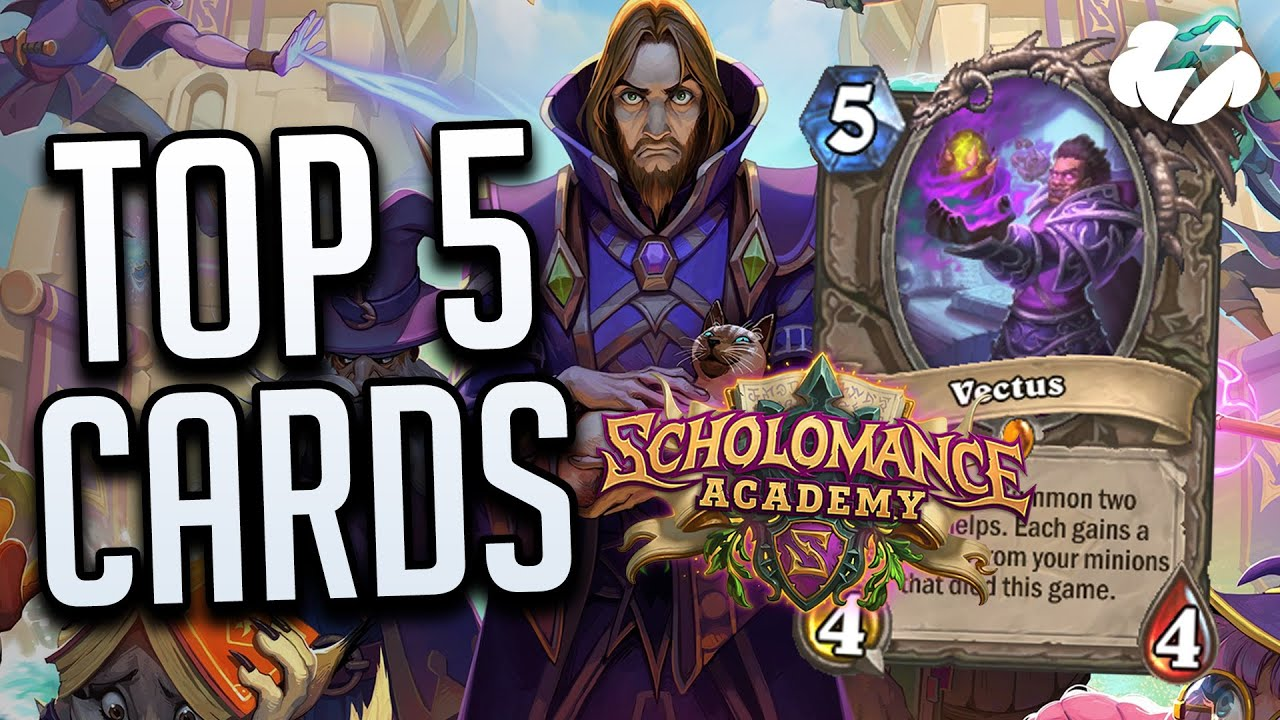 Top 5 Cards From Scholomance Academy! | Tempo Strategy Hearthstone