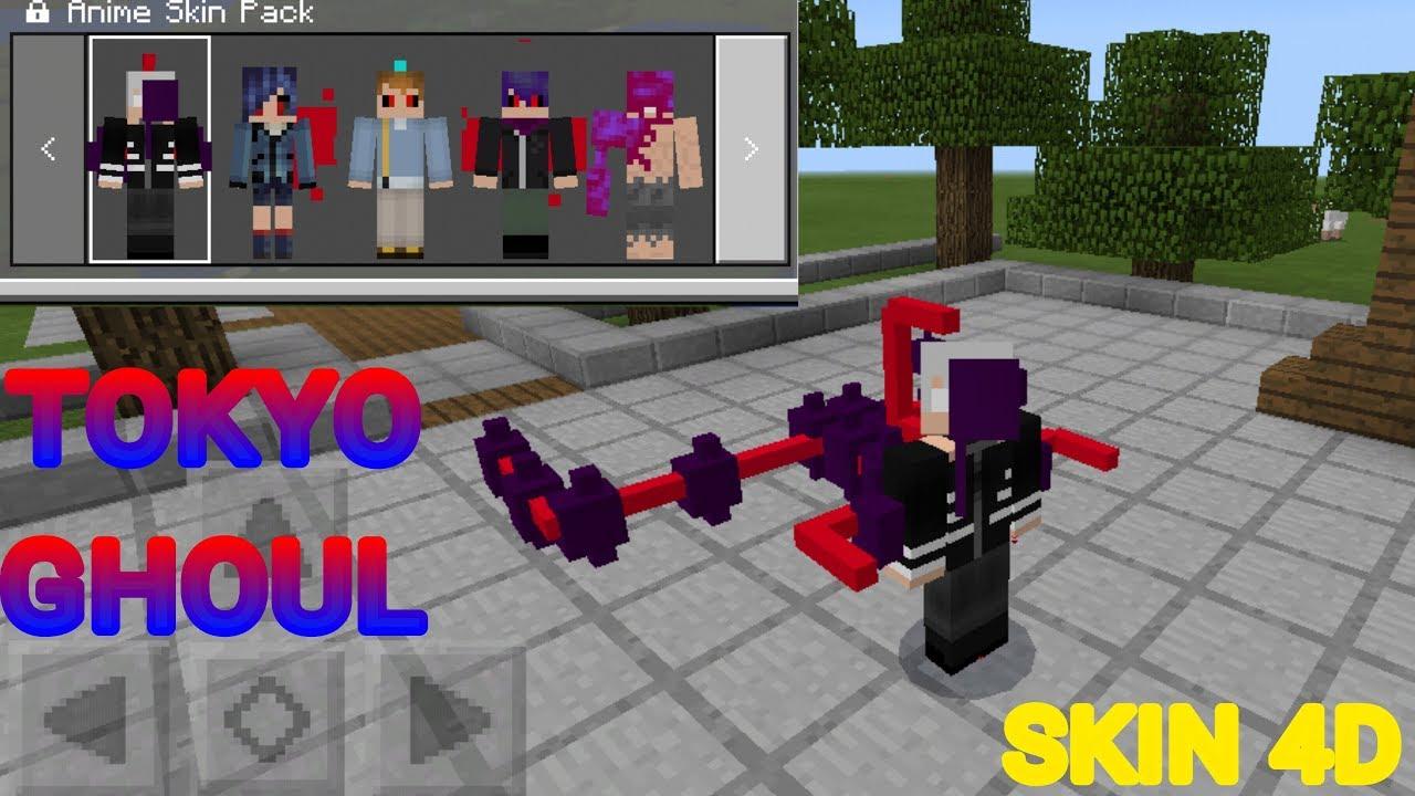 SKIN PACK D DE TOKYO GHOUL PARA O MCPE Minecraft PE YouTube - Skins para minecraft pe tokyo ghoul