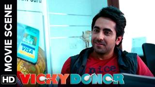 Ayushmann meets yami for the first time | vicky donor | movie scene