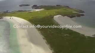 Aerial, Gurteen Beach, Dogs Bay, Roundstone