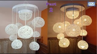 Make a Home Made Wrapped Balloon Lamp Part 2 Easy Home Made Lamp by Crazy Art 4 U