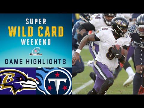 Ravens vs. Titans Super Wild Card Weekend Highlights | NFL 2020 Playoffs