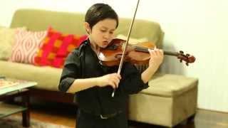 Nathan Gendler, 8 yrs, Kreisler Praeludium and Allegro on 1/2 size violin