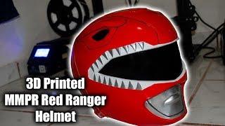 Making 3D printed MMPR Red Ranger Helmet #tutotial #3d #mmpr
