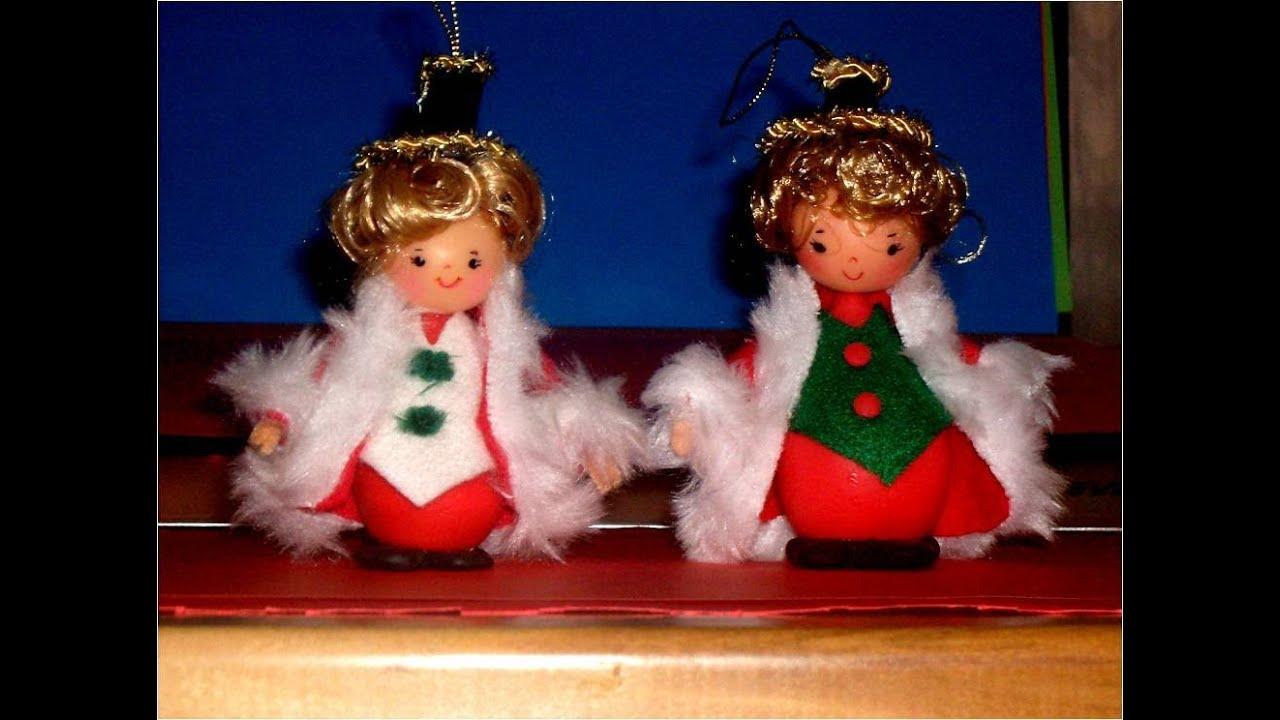 Muñeco colgante para árbol navideño - YouTube