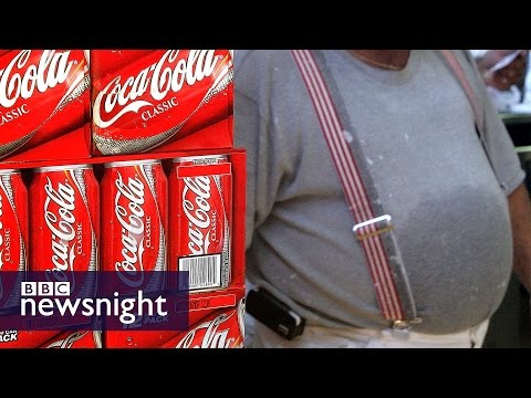 How much sugar is in a Coca-Cola supersize cup? BBC Newsnight