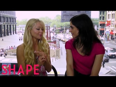 An  with Glee's Charlotte Ross  Shape
