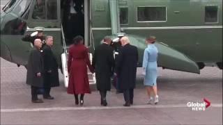 Le départ de Barack Obama de la maison blanche vidéo très émouvant