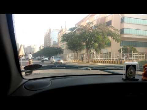 Driving to work in Bangalore