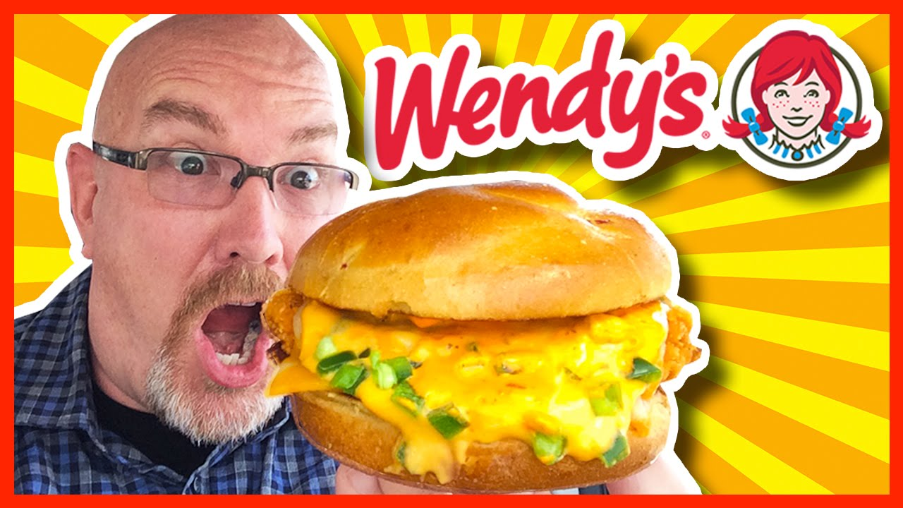 Wendy's Jalapeno Fresco Spicy Chicken Sandwich with Ghost Pepper Sauce