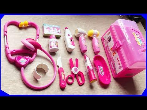 ĐỒ CHƠI BÁC SĨ EM BÉ MÀU HỒNG 11 MÓN - Doctor toys baby (Chim Xinh)