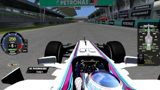 [rFactor] Williams Martini-Mercedes FW36 @ Sepang with Valtteri Bottas (Mod F1AL 2014) [HD]
