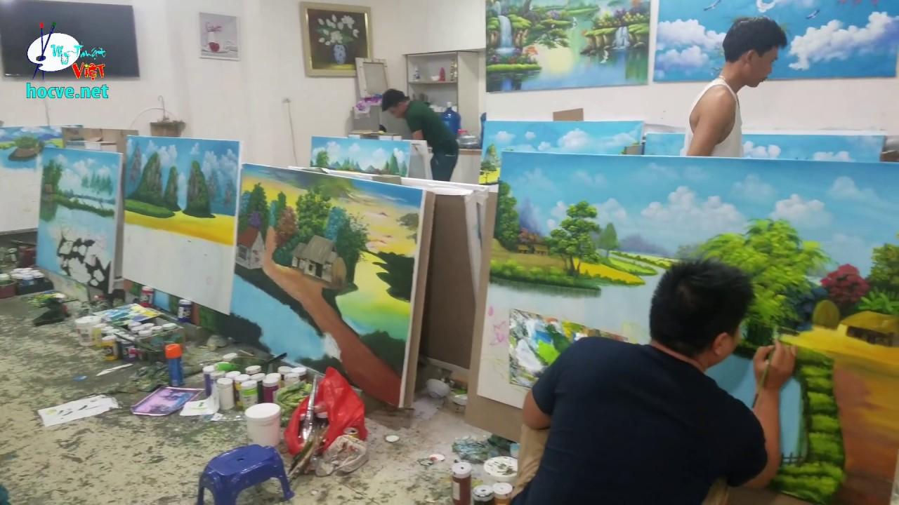 Nhật Ký Ngày thứ 10 khóa học vẽ tranh tường do trung tâm Mỹ thuật Việt tổ chức