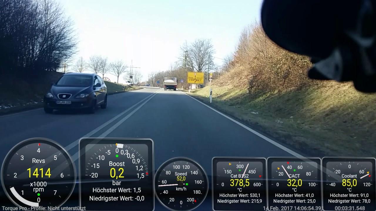 Corsa D 1.3 CDTI Autobahn 195Km/h Torque Pro - YouTube