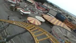 Mega Blitz Roller Coaster POV Coney Beach UK