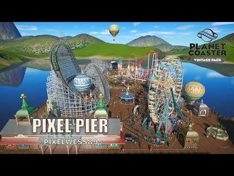 Pixel Pier [4K Blueprint Park] - Vintage Pack   Planet Coaster  