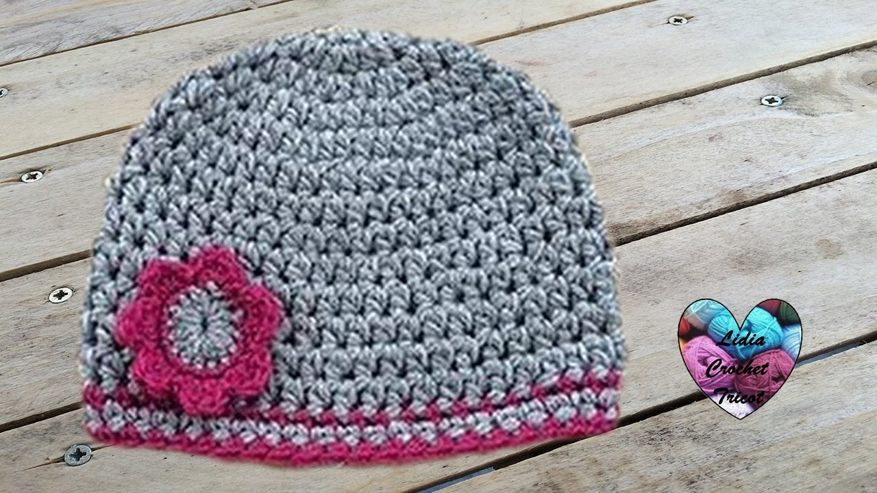 16c66dd35127 Bonnet bébé crochet  Beanie (hat) baby crochet - YouTube