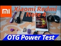 Xiaomi Redmi Note 4 USB OTG Support/Test & A to Z USB Itam Test & OTG Power Test 2017......