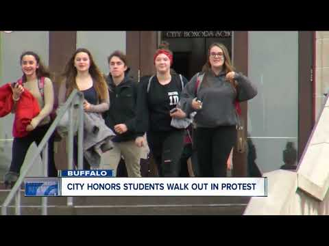 City Honors students walk out in protest