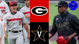 Georgia vs #1 Vanderbilt Highlights (Game 1) | 2021 College Baseball Highlights