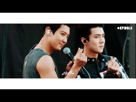 Chanyeol And Sehun We Young - SMTOWN In Chile [Fancam]