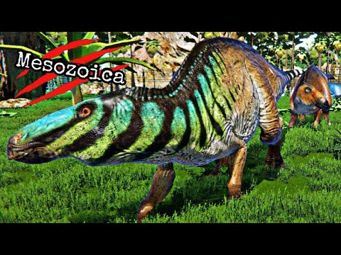 Mesozoica #14 - Criando Manada de Edmontosaurus, Paddock Natural!