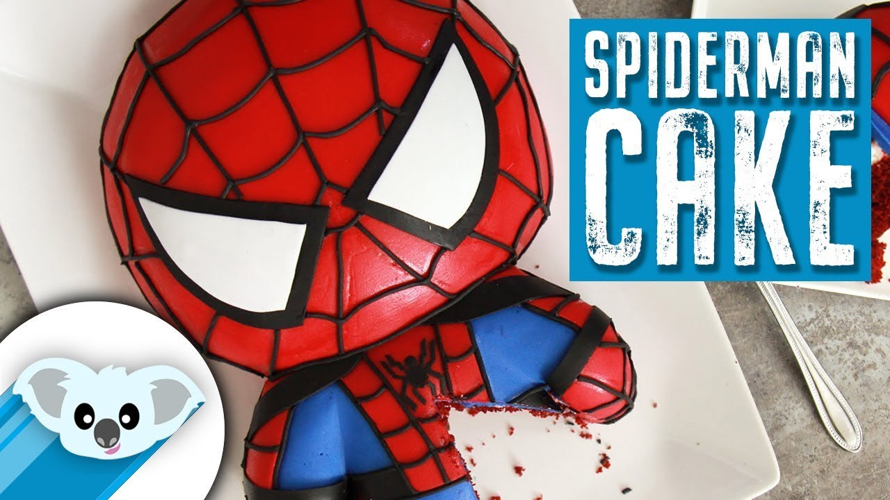 Spiderman Cake Marvel Party Ideas Diy How To Youtube