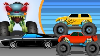 Haunted House Monster Truck | War | Episode 11 | Videos for Kids