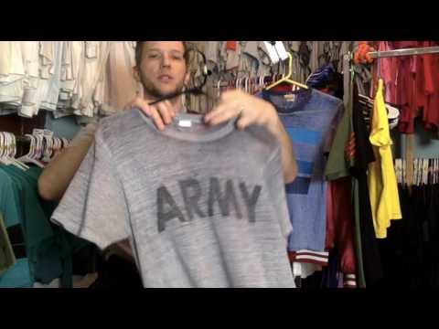 Vintage 70s 80s Threadbare ARMY T Shirt