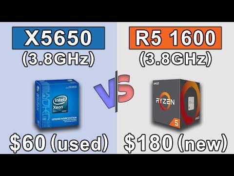 Xeon X5650 (3.8GHz) OC vs Ryzen 5 1600 (3.8GHz) OC | New Games Benchmarks