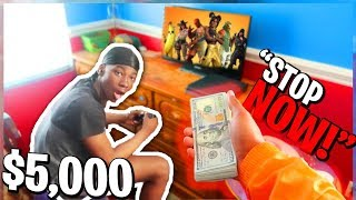 I Paid Kid $5000 to STOP Playing Fortnite Forever! YOU WONT BELIEVE WHAT HE CHOSE!