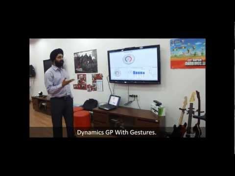 Using Gestures With Business Analyzer (Kinect With Dynamics GP!)