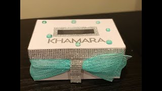 DIY Personalized Bling Card Box