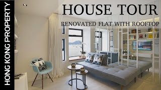 4K HOUSE TOUR, DESIGNER RENOVATED TOP FLOOR FLAT WITH ROOF TERRACE | HONG KONG