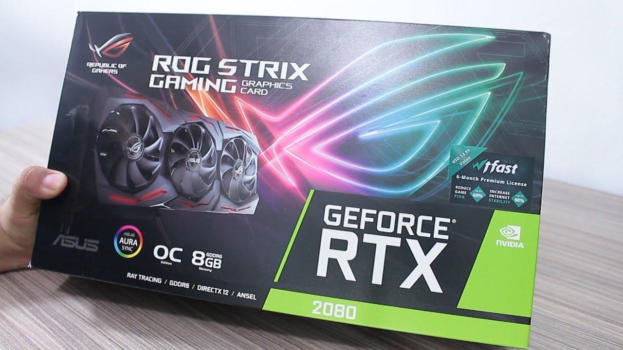 ASUS RTX 2080 Strix 8GB OC GDDR6 - Unboxing e primeiras impressões